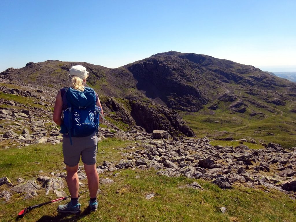 Looking towards Scafell Pike from Great End