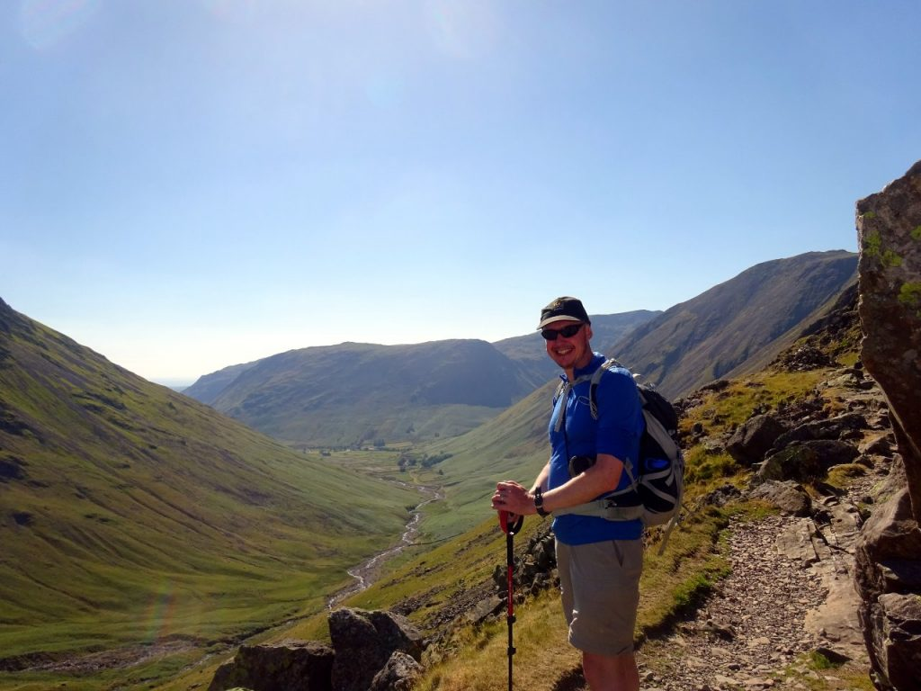 Me at Sty Head, preparing to descend into Wasdale
