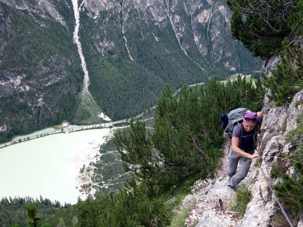 Via ferrata routes are a network of metal cables, rungs and ladders up steep mountainsides