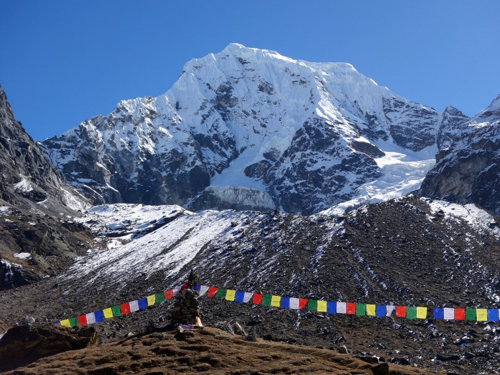 Our climb of Cholatse was as happy, successful and trouble free as an expedition can be