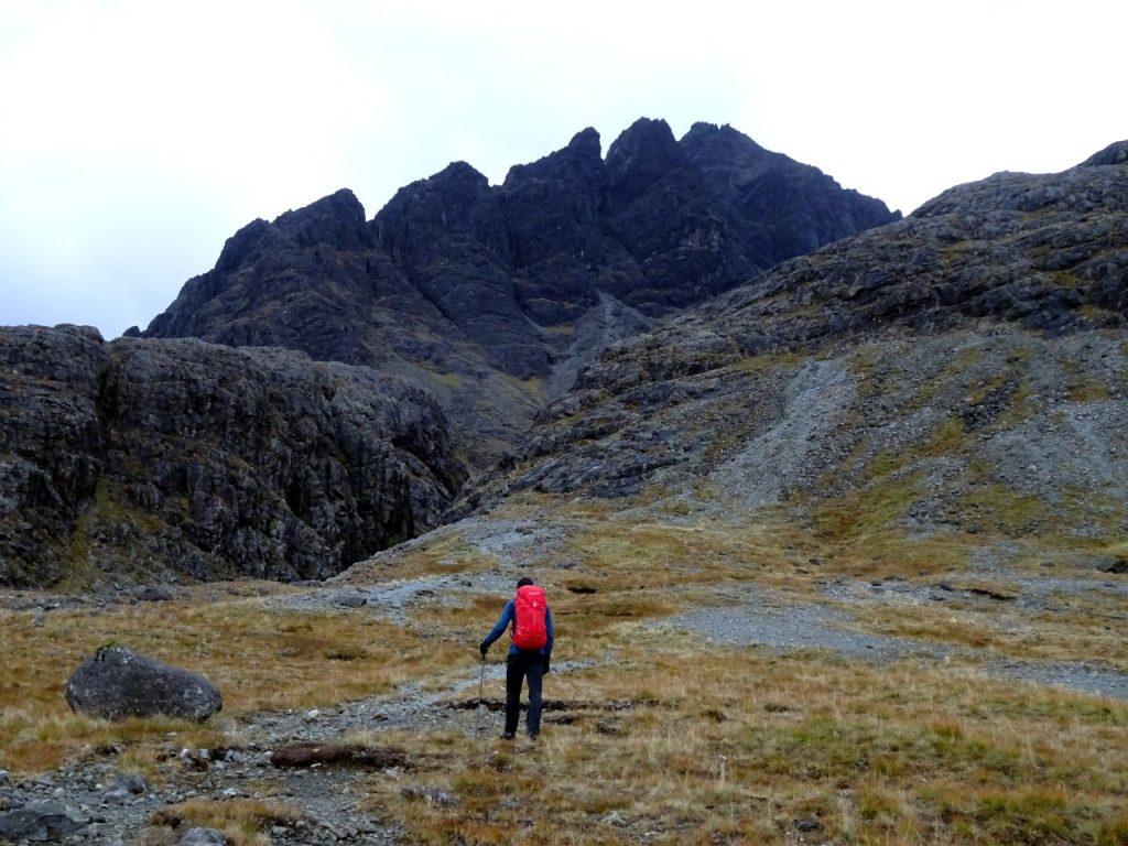 Approaching Sgurr nan Gillean's Pinnacle Ridge