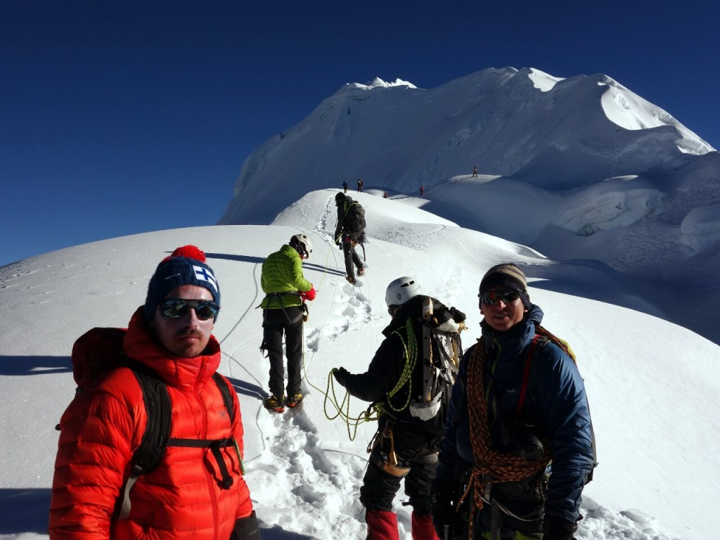 Miikka and Samuli preparing for an easy summit day