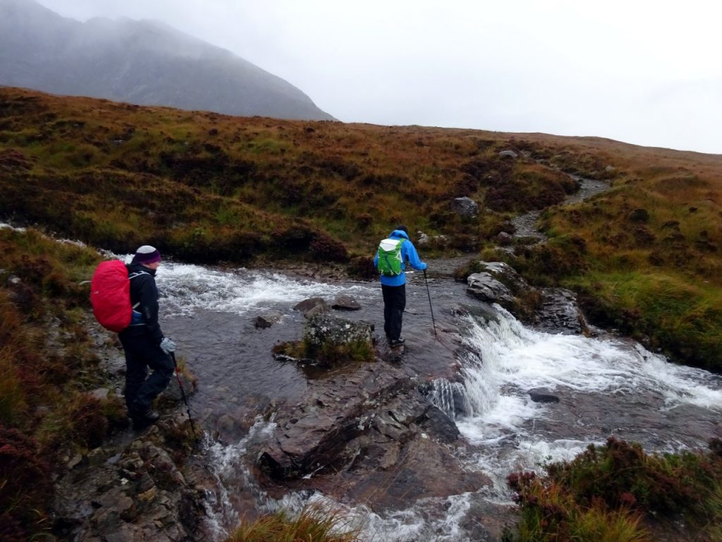 River crossing on the way to Sgurr nan Eag