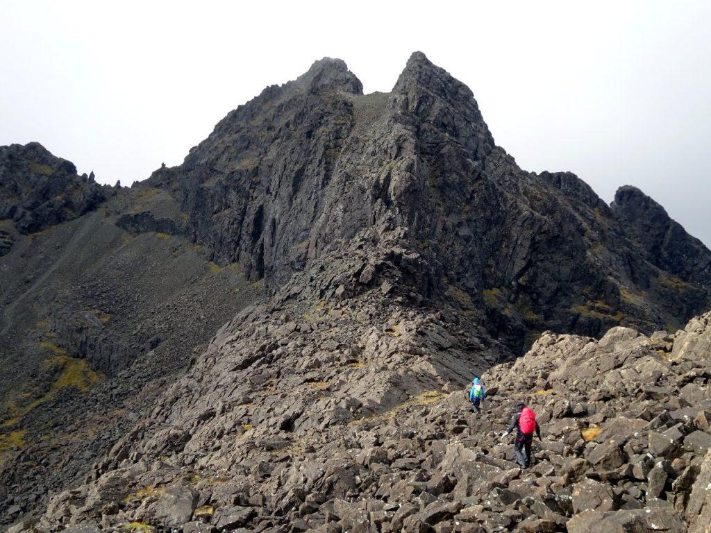 Approaching Sgurr Alasdair (left) and Sgurr Thearlaich
