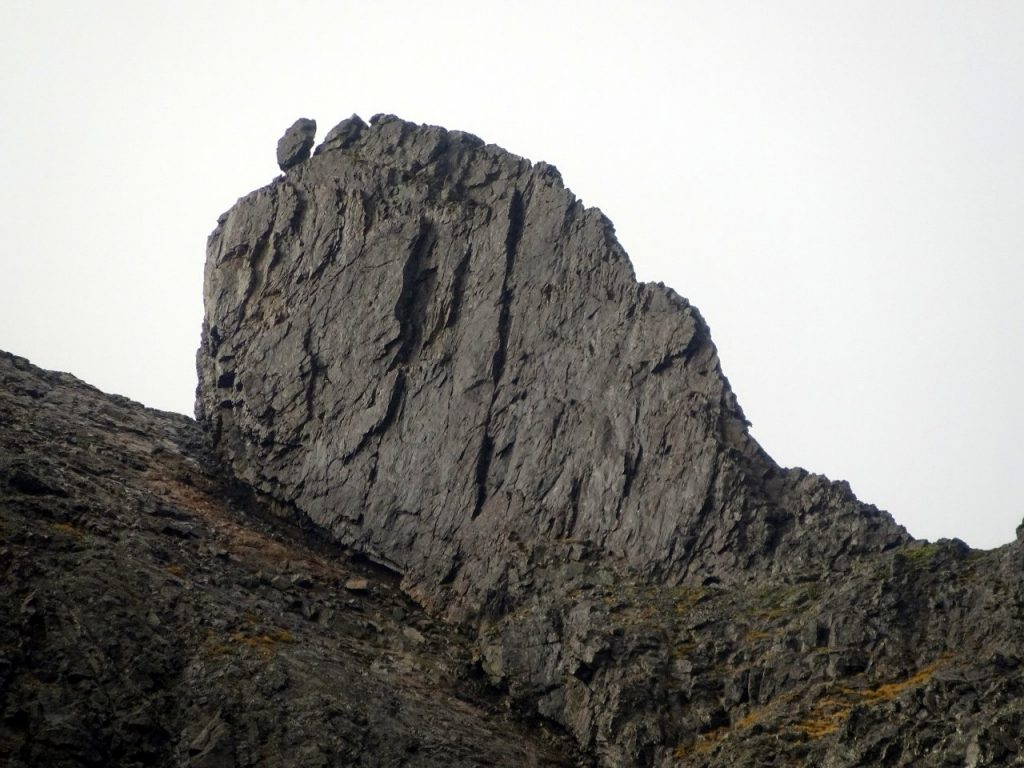 The Inaccessible Pinnacle seen from the Great Stone Chute