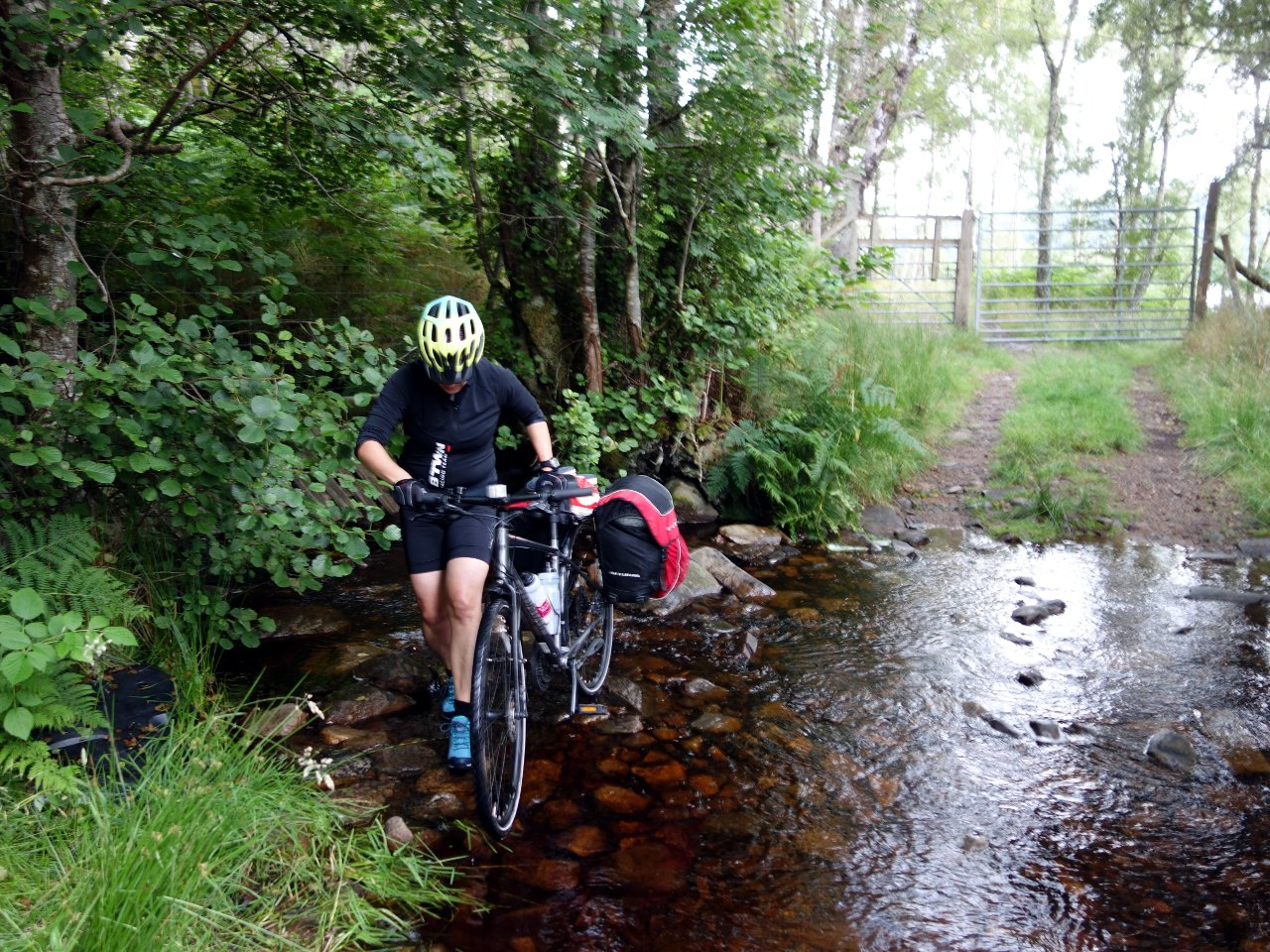 The trails were as rough as a badger's arse, and there was even a stream to ford