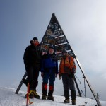Me, Ernie and Omar on the summit of Jebel Toubkal (4167m), the highest mountain in Morocco