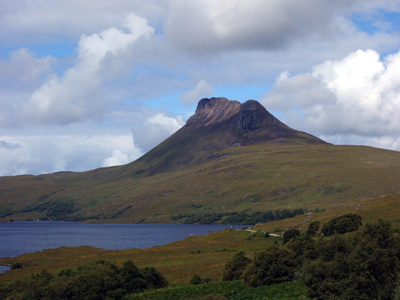 Stac Pollaidh seen across Loch Lurgainn
