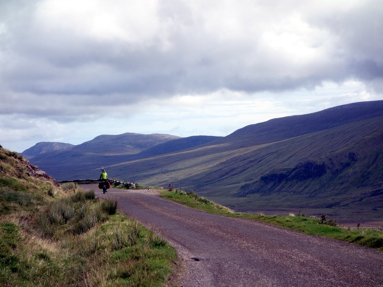 There was a roof-of-the-world feel to the section approaching Durness