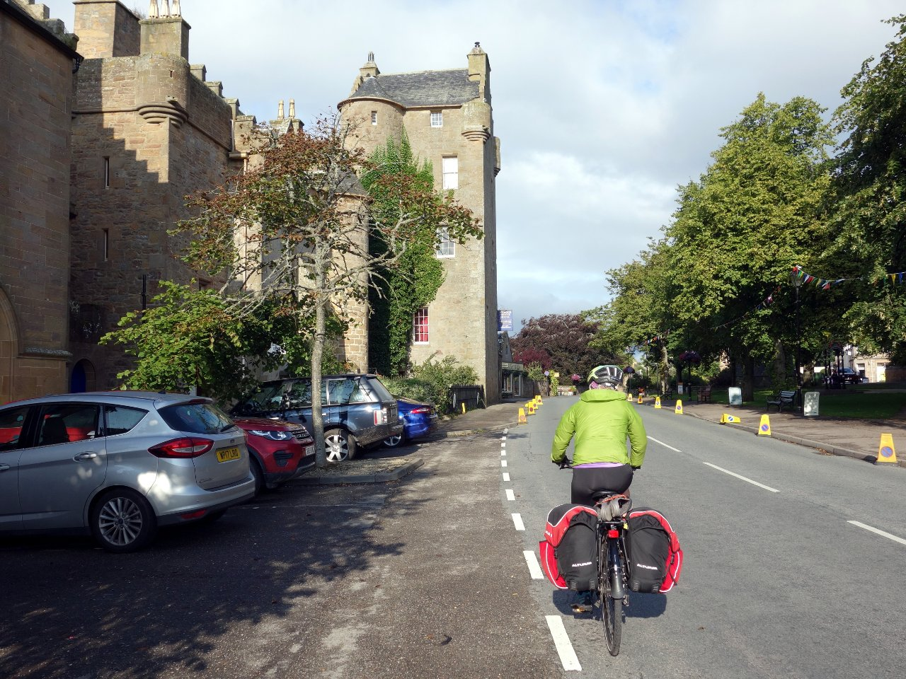 Dornoch was a pleasant village with a hotel disguised as a castle, or was it the other way round?