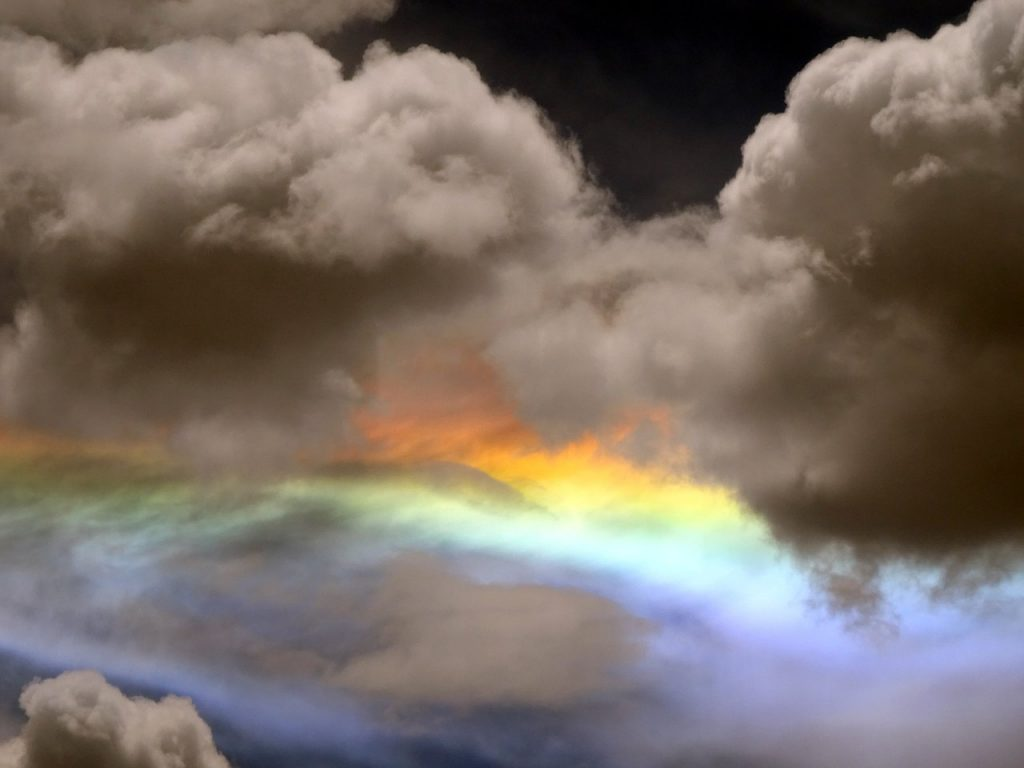 Circumhorizon arc, or a better name would be spectral clouds - they are a natural work of art