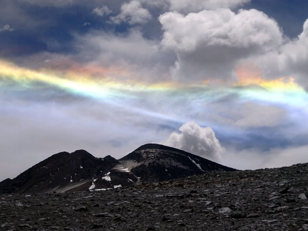 A circumhorizon arc over Cerro El Muerto in the Puna de Atacama region of Chile