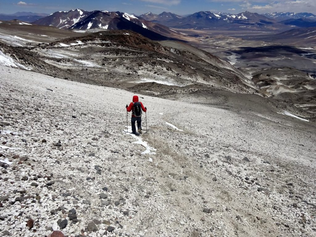 There was a more direct shortcut down an 800m scree slope