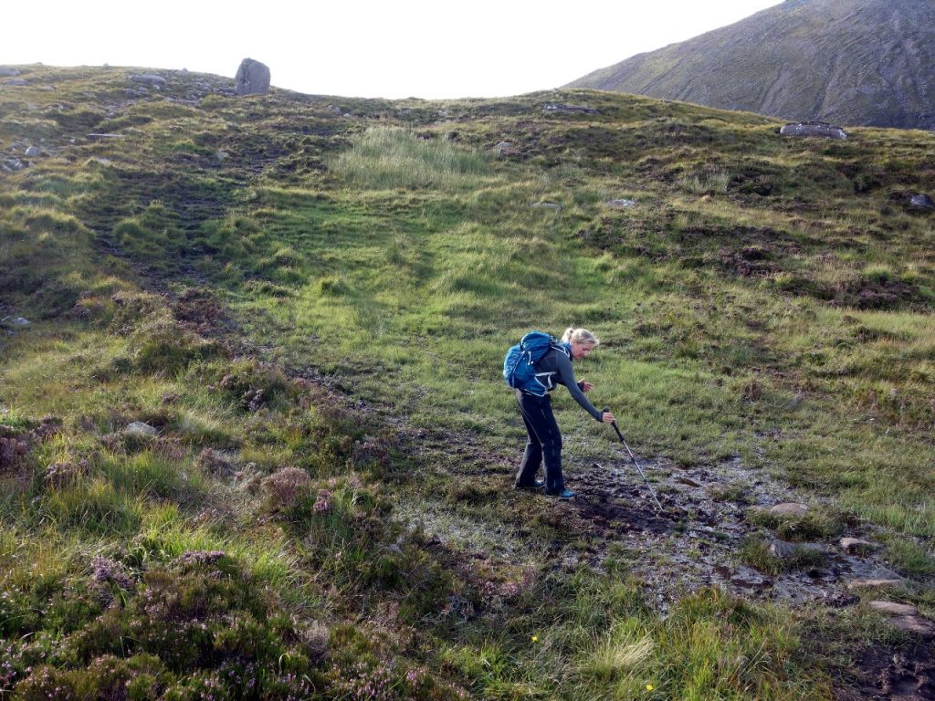 What happens when trails are not maintained - crossing peat bog in the Scottish highlands