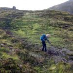 I forgot to tell Edita about the peat bogs. This is a section of the trail on Quinag.