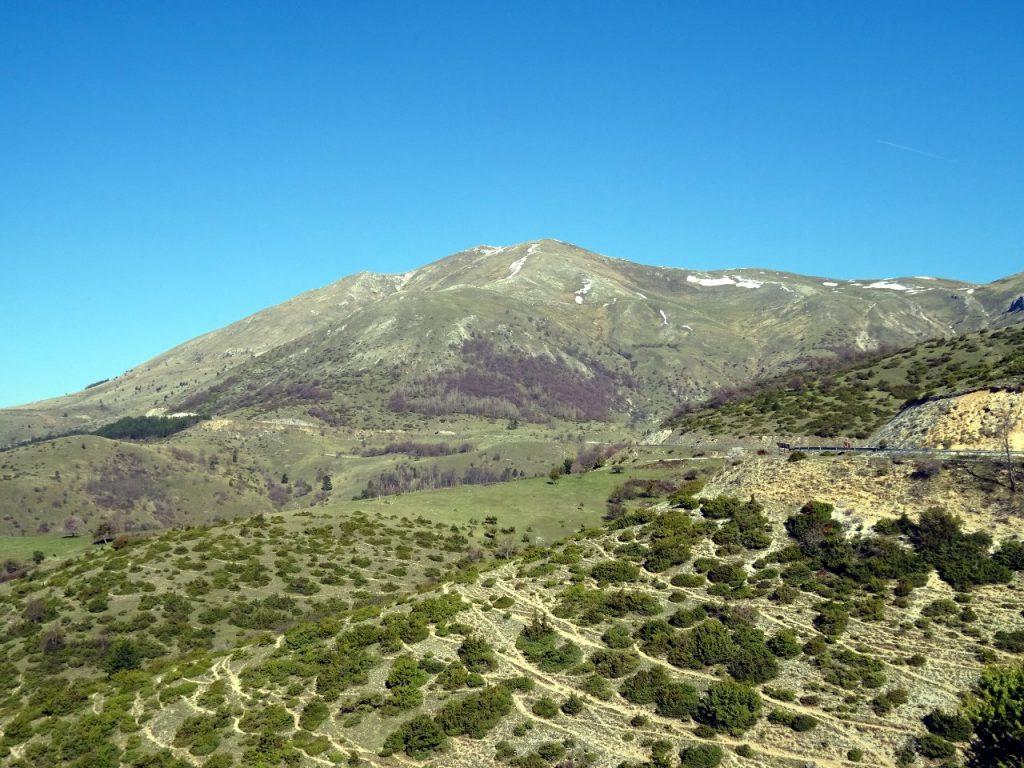 Monte San Franco (2,132m) from the Valle del Vasto, my first Apennine 2,000er