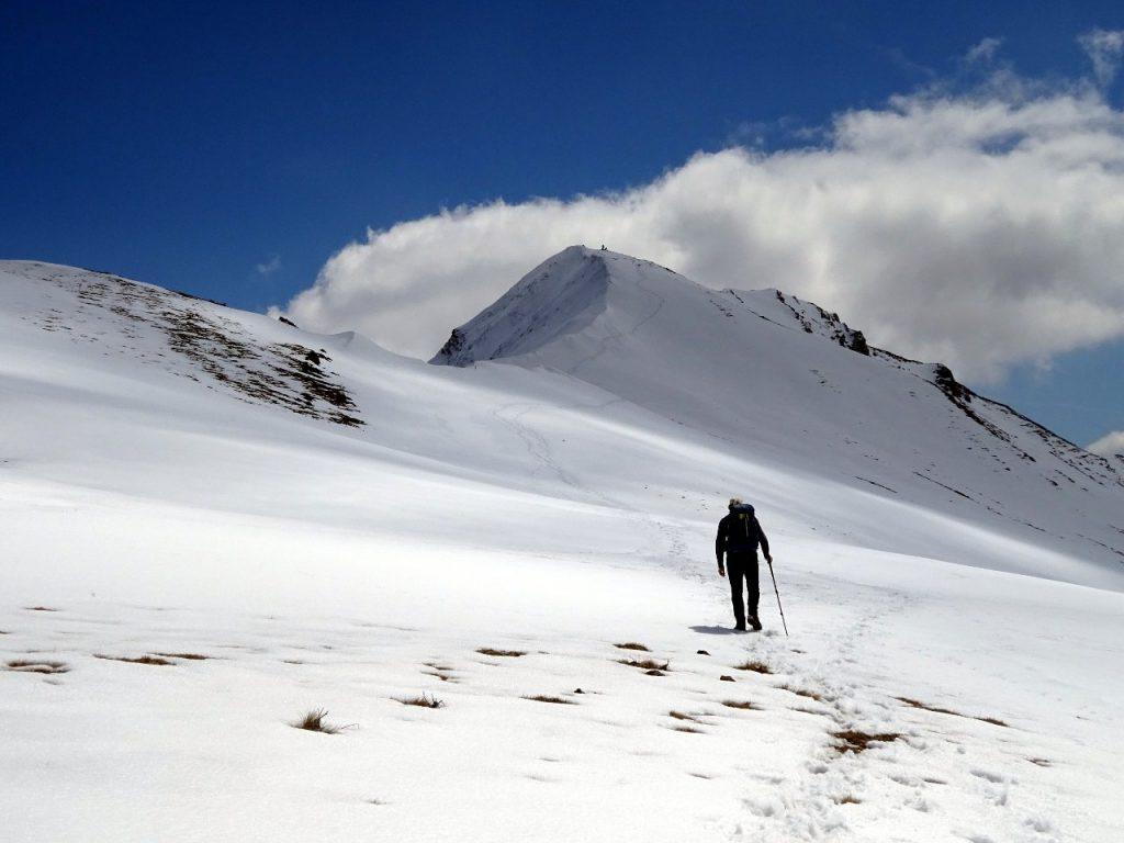 Approaching the summit of Pizzo di Camarda