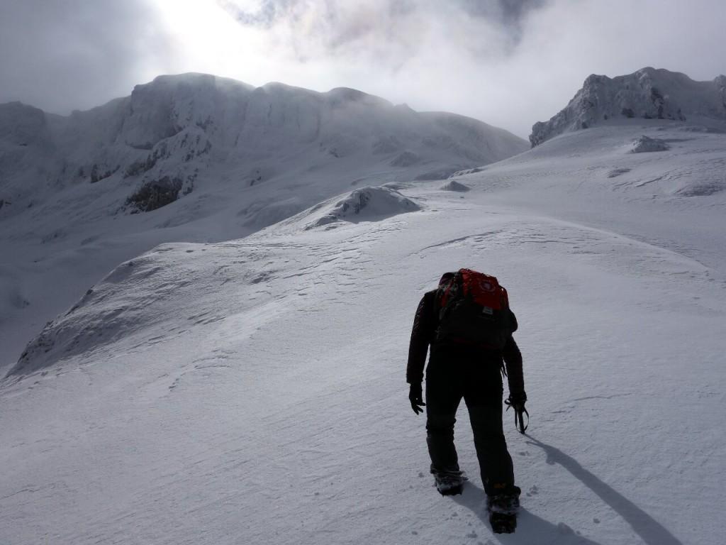 Edita leads up to the summit ridge