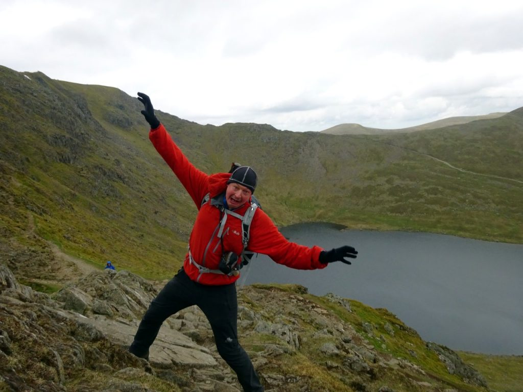 Striding Edge can be a dangerous place. Don't behave like this idiot.