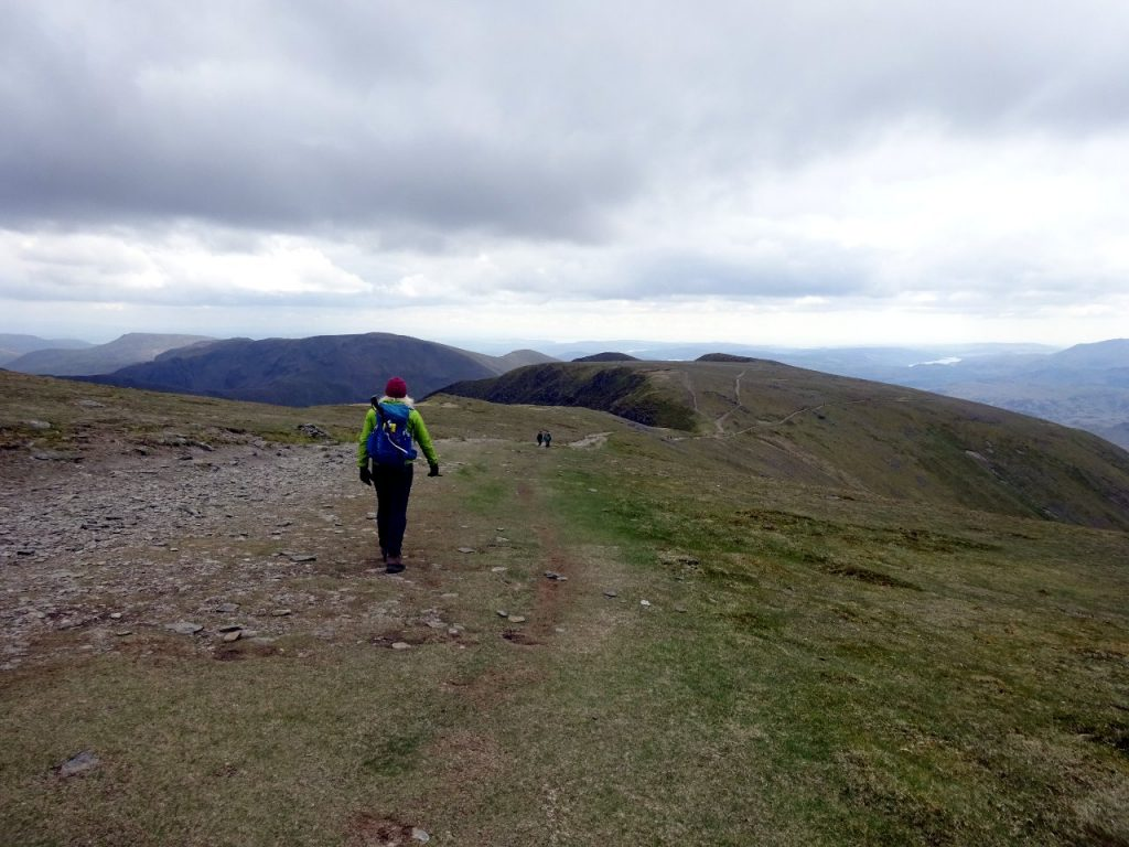 Roof-of-the-world feel leaving the summit of Helvellyn