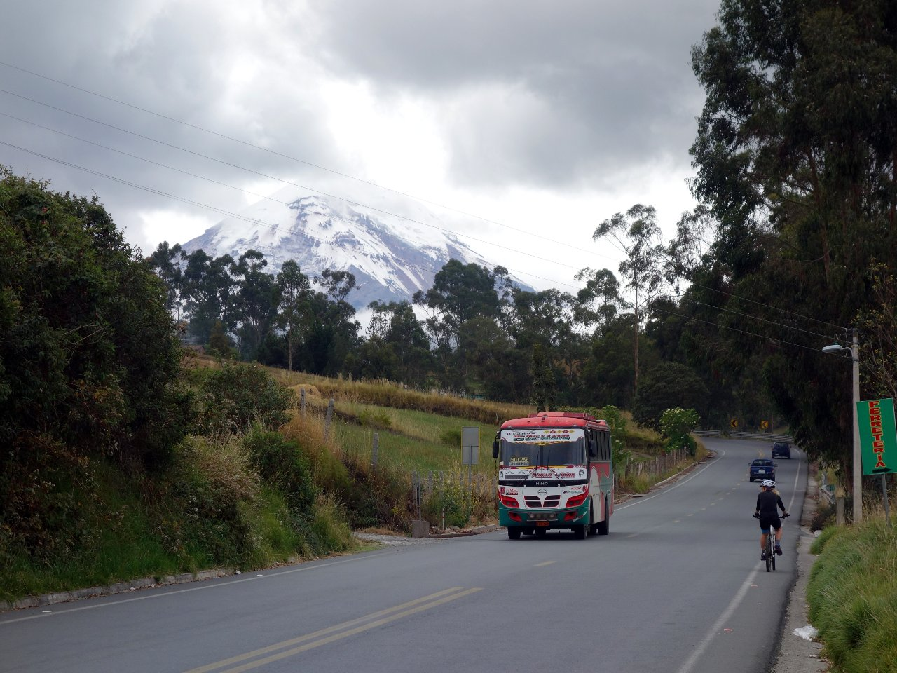Chimborazo was in view for most of the day