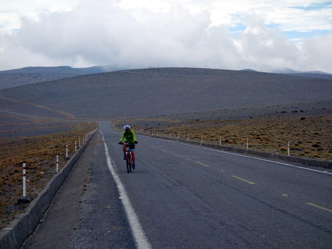 Desolate landscape on the western side of Chimborazo