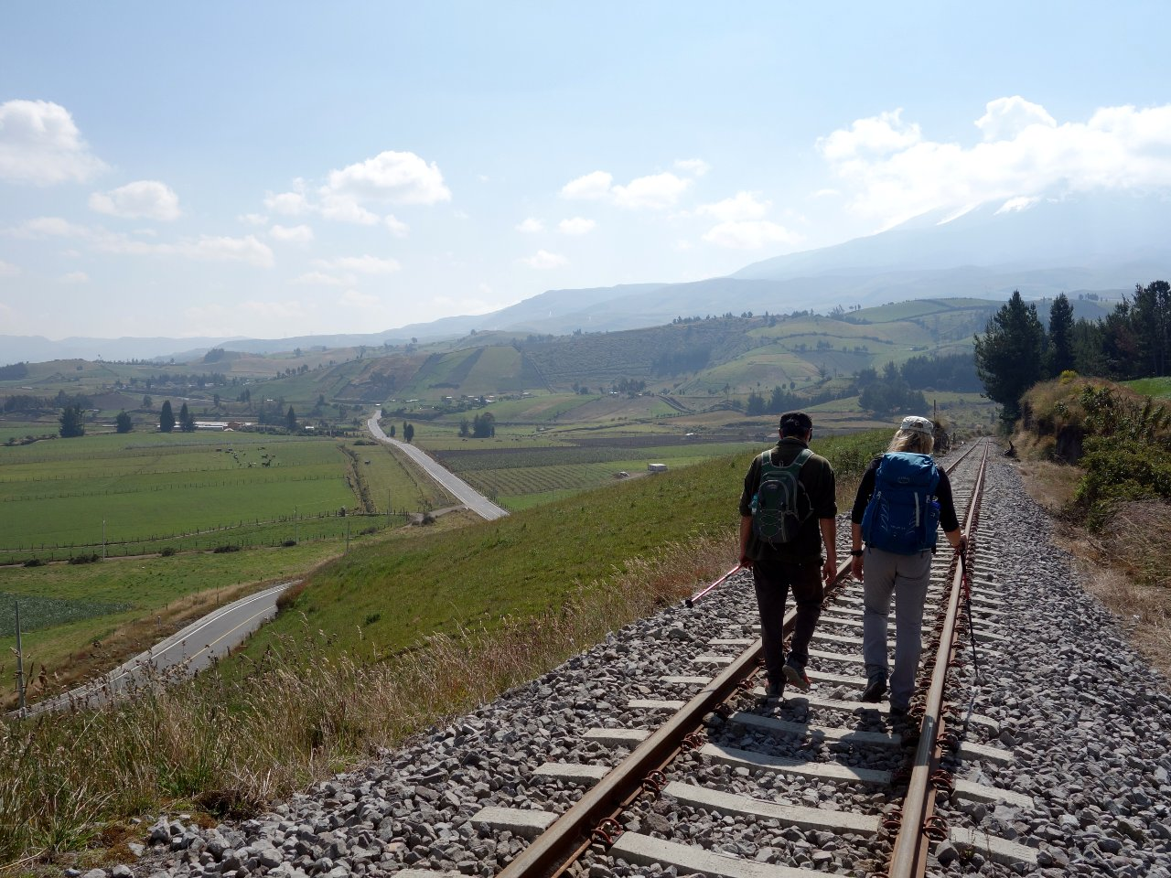 I was a little alarmed when Rodrigo started walking along the railway line