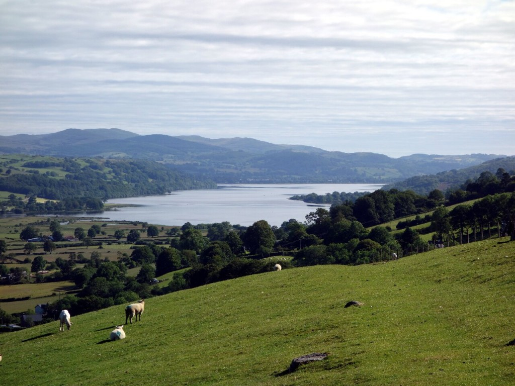 Bala Lake from the northern end of the Aran Ridge