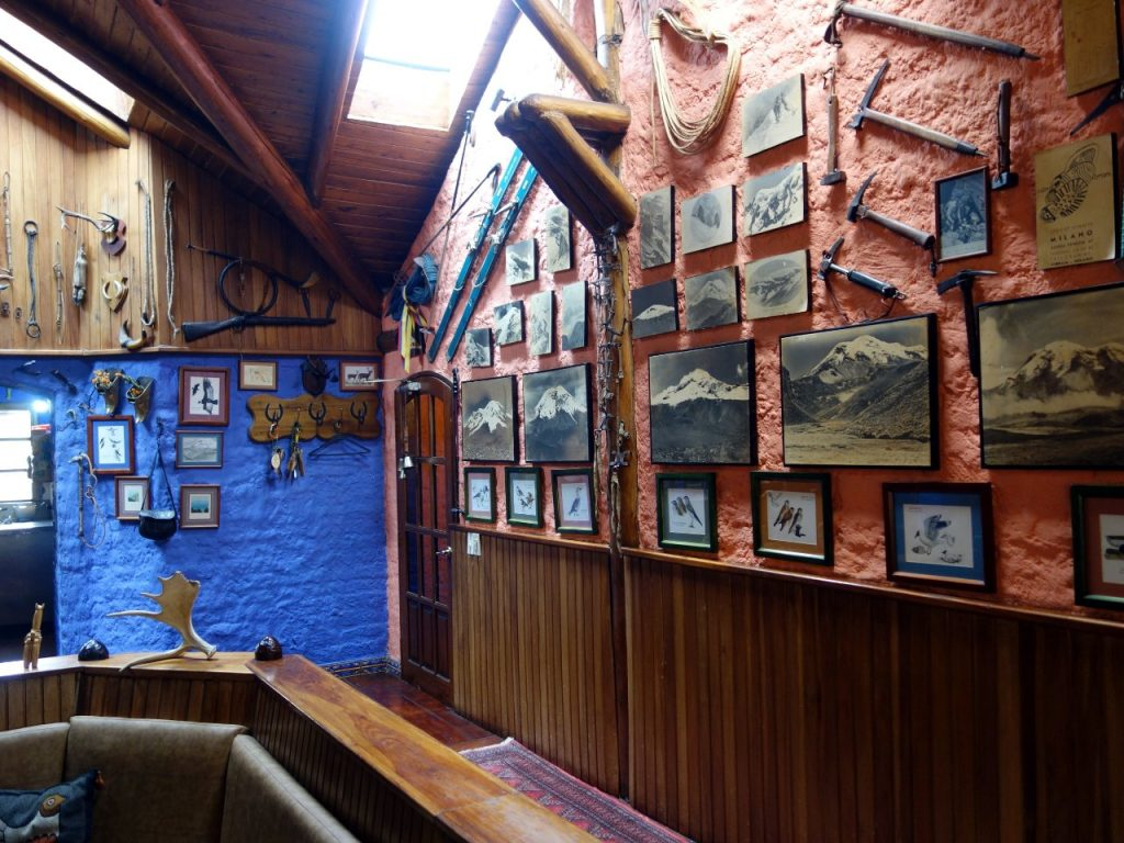 The Marco Cruz Chimborazo Lodge is like a museum