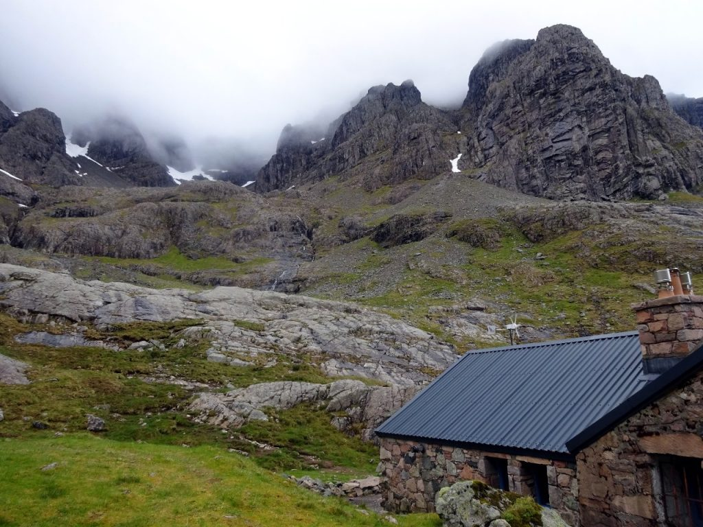 The Charles Inglis Clarke (CIC) Hut nestles beneath the great north face of Ben Nevis