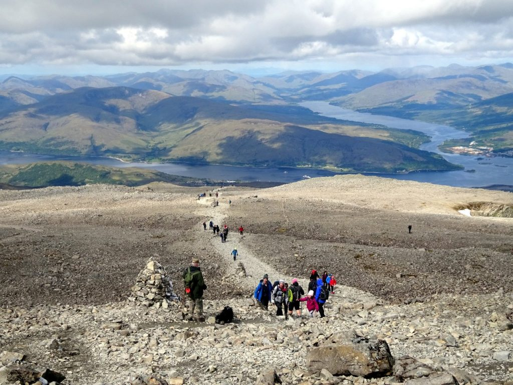 An estimated 160,000 people climbed Ben Nevis last year