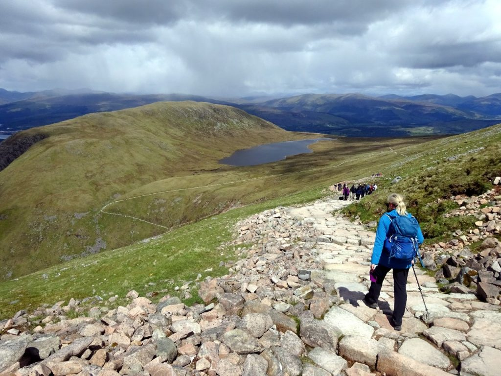 The col between Meall an t-Suidhe and Ben Nevis would be a great place for a wild camp