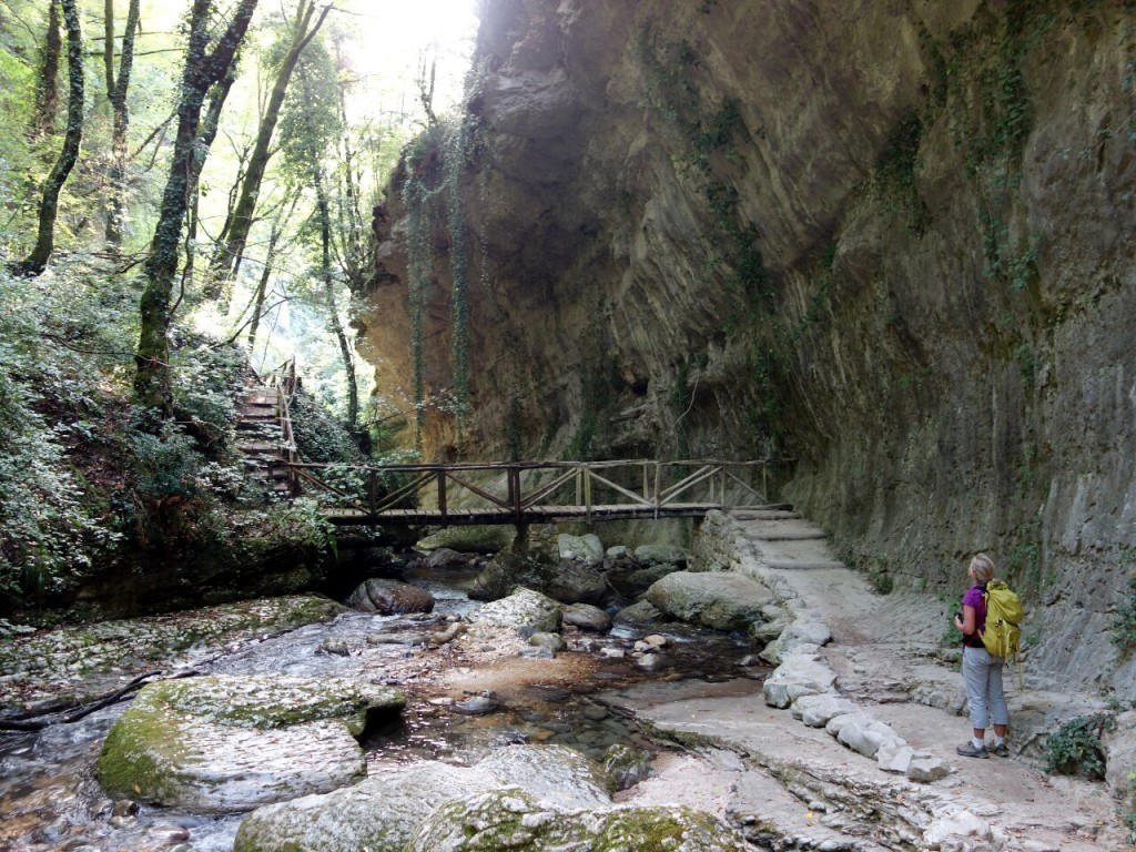 The Middle Earth-like Orfento Gorge is a much safer place to be in a thunderstorm
