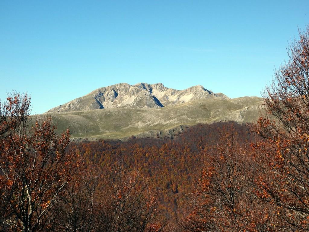 Monte Marsicano (2253m) from the H1 trail below Rocca Chiarano