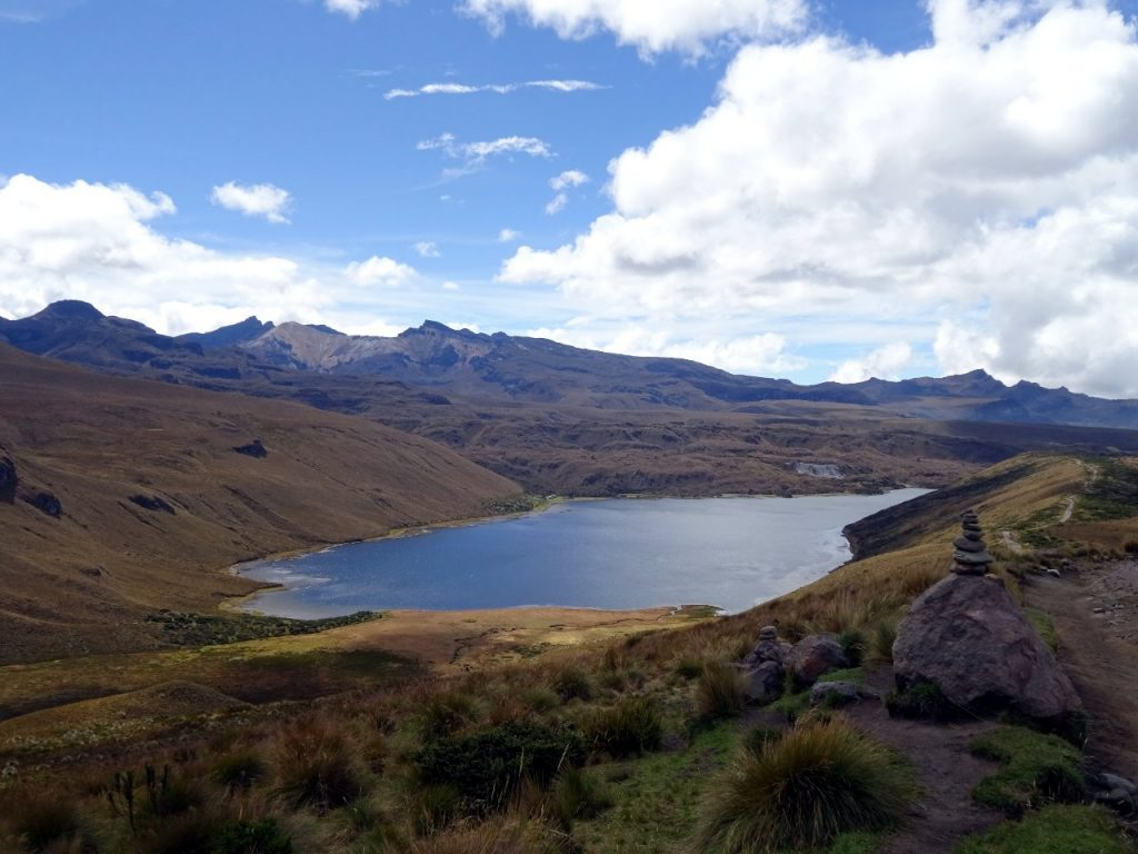 Laguna Otun is the largest lake in Los Nevados National Park