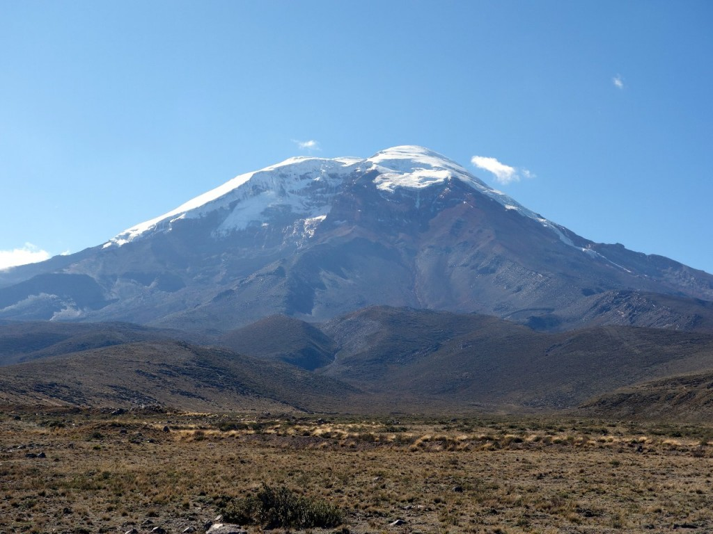 Chimborazo in Ecuador is definitely the highest mountain in the world