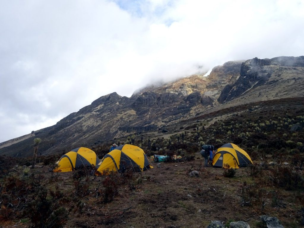 High camp on Nevado del Tolima, a wonderful campsite