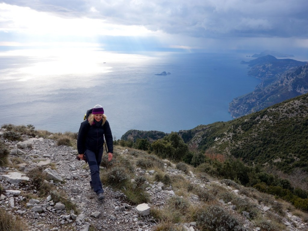 A thousand metres above the sea, approaching Capo Muro