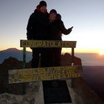 Mark Horrell and Edita Nichols on the summit of Mount Meru, 24 December 2016