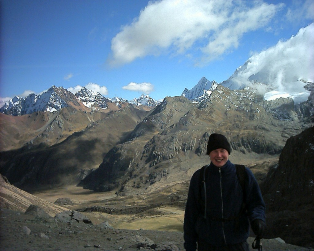Me at Punta Cuyoc (5030m), the highest point on the Huayhuash Circuit, during one of my very first high altitude treks in 2002. At the time it was the highest I had ever been.