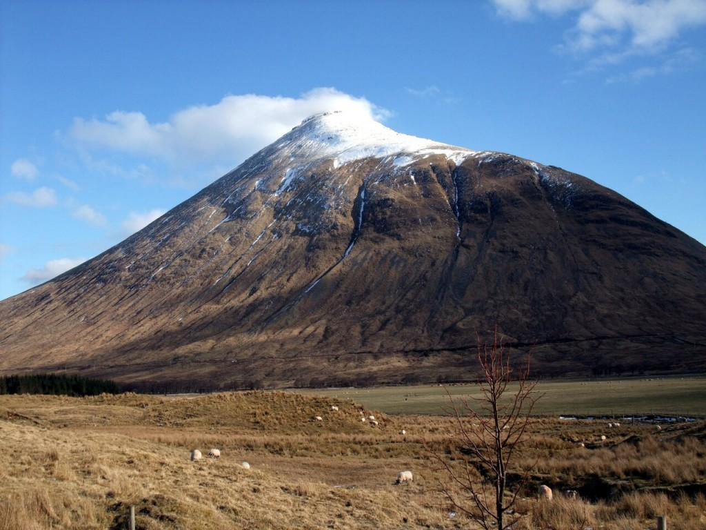 Beinn Dorain from the A82 south of Bridge of Orchy