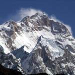 The west face of Manaslu from the Marsyangdi Valley