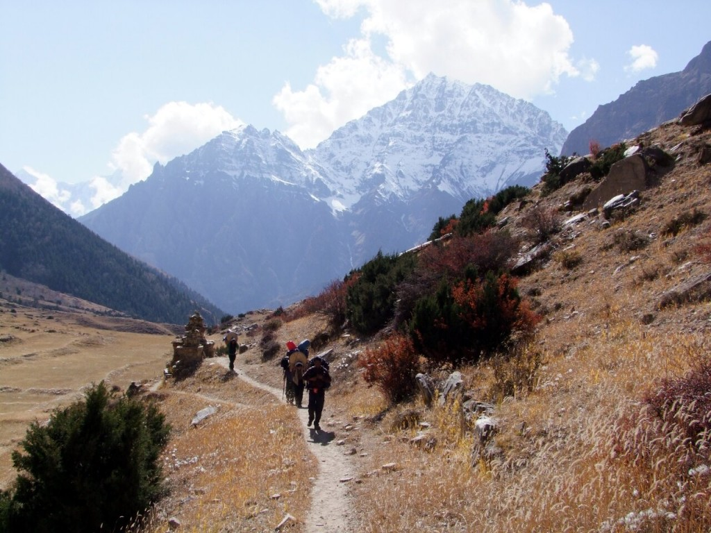If you want to get off the beaten track where food and accommodation isn't available then it's necessary to hire porters for a camping trek