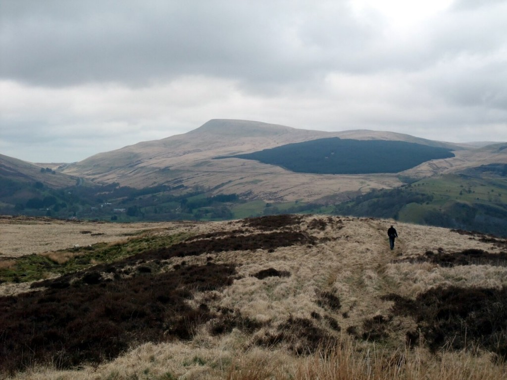Descending into the Tawe Valley from Cribarth