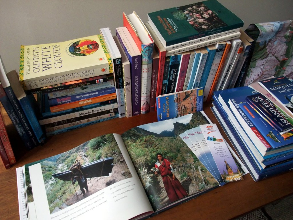 An eccentric selection of books: from classic mountaineering literature to Buddhist manuscripts to maps and Himalayan wildlife. I've bought all of these from the Pilgrim's Book House over the years