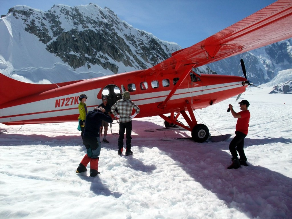 What's all this then - flying onto a glacier? That's got to be cheating, surely. The Kahiltna Glacier, Denali.