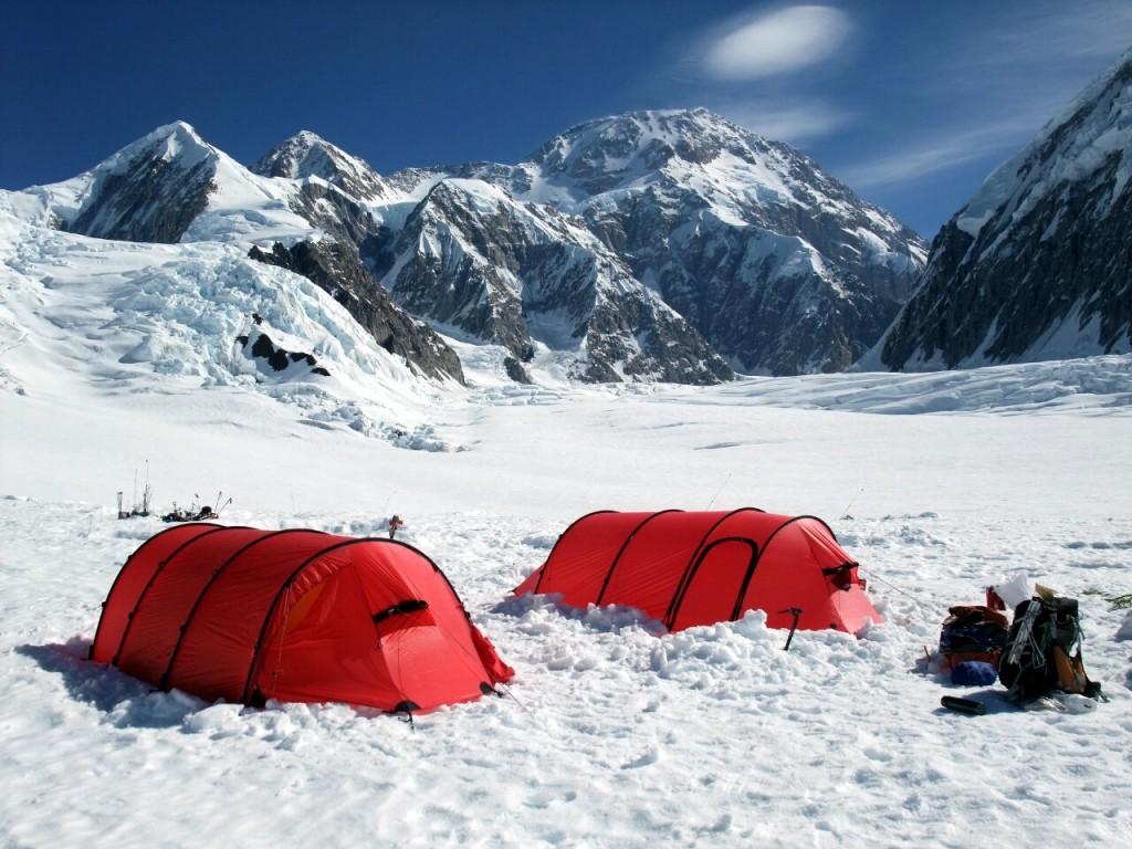 Denali (6194m) from Camp 1 on the Kahiltna Glacier