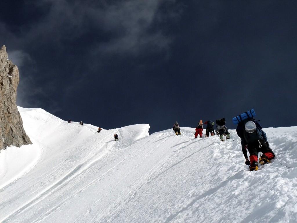 Climbing the Banana Ridge on Gasherbrum II. Hmm, yes, definitely mountaineering.