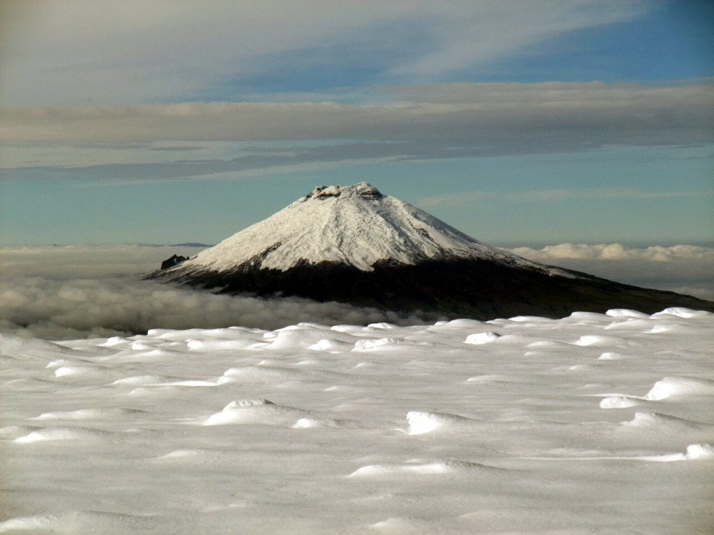 Cotopaxi (5897m) from the summit of Antisana