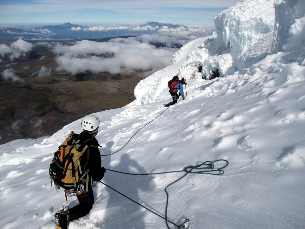 Ecuador's big four, such as Antisana, require mountaineering skills, such as rope work and use of ice axe